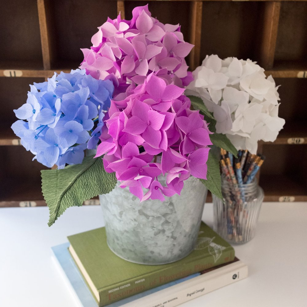 The size of my typical hydrangea blooms, and another custom order birthday gift completed in October, 2017