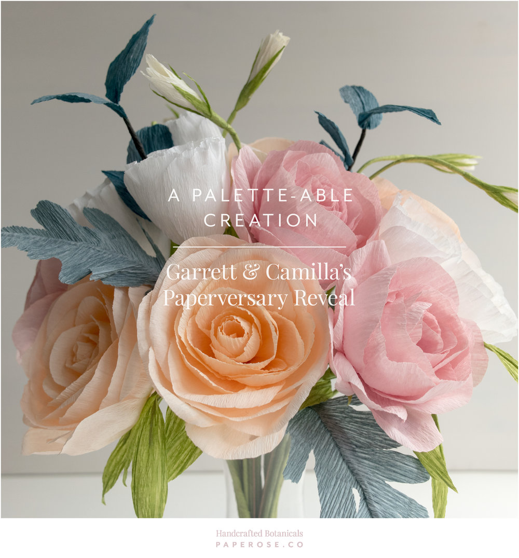 PaperRoseCo_Garrett & Camilla First Anniversary Bouquet Palette Header