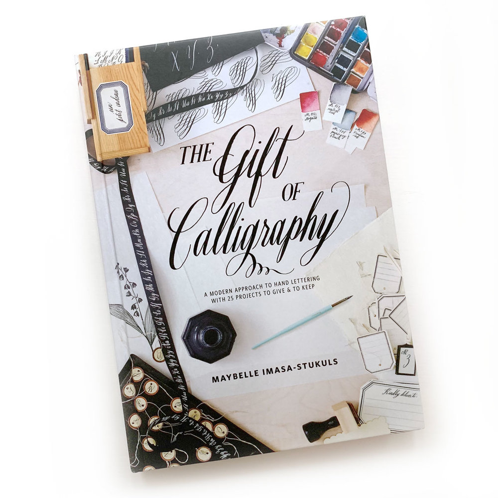 The Gift of Calligraphy  by Maybelle Imasa-Stukuls:  I was fortunate enough to receive an advance copy of this book from Penguin, and it is positively stunning. I haven't worked on any of the lessons yet, but there are many I'm excited about trying, and it has re-sparked my interest in calligraphy.