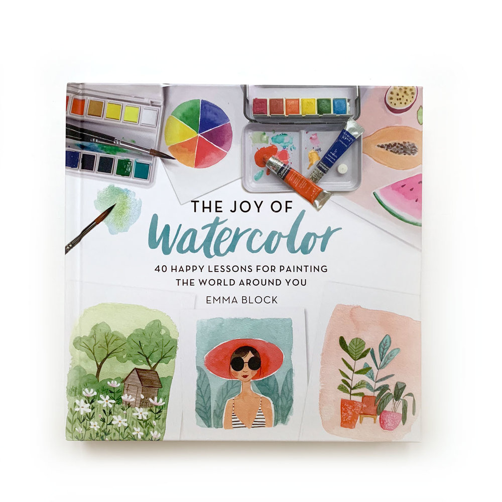 The Art of Watercolor  by Emma Block:  I've followed Emma's work on Instagram for years and was thrilled to see she'd come out with a book, fully expecting to enjoy it as eye candy. But my expectations were blown away when I realized how inviting and charming each of the little lessons and exercises are within the pages. So much so I soon invested in an even more elaborate travel watercolor kit…