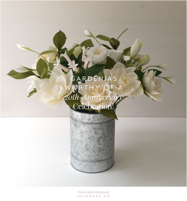 PaperRoseCo 2oth Anniversary Gardenias