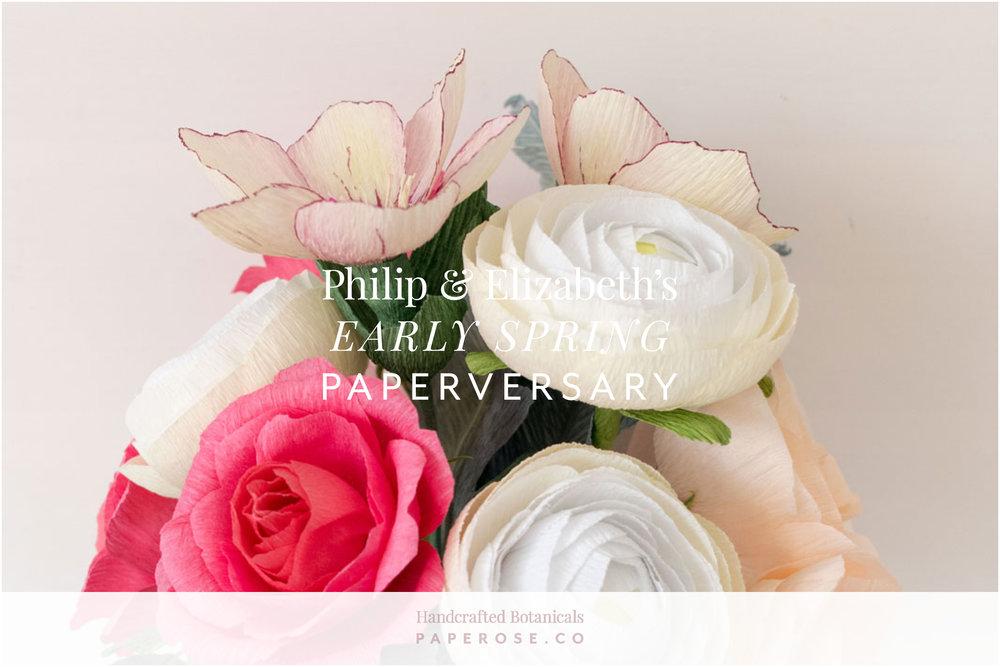 Paper Rose Co. Paperversary Wedding Bouquet Recreation Philip
