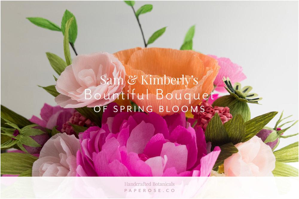 Paper Rose Co Wedding Bouquet Recreation Sam