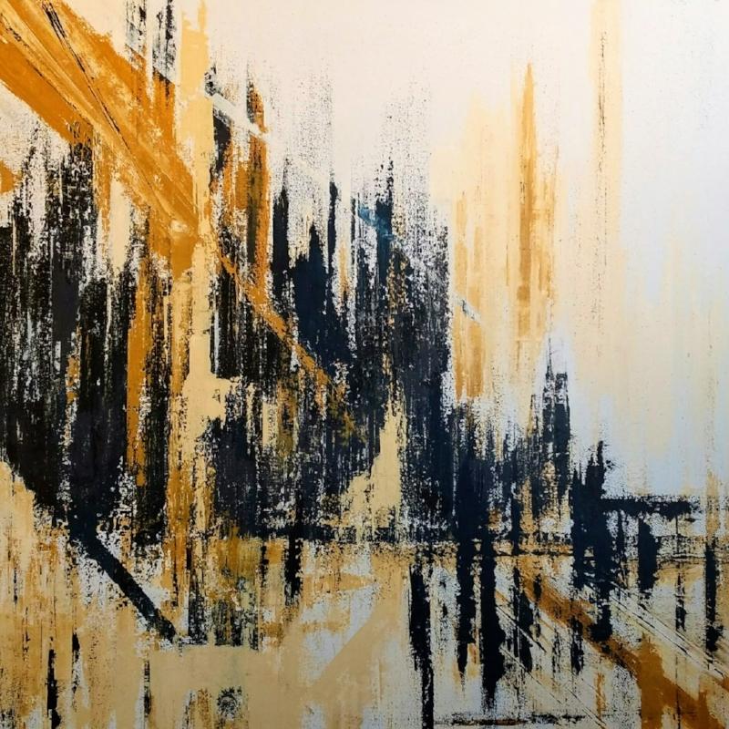 """Dreams of Prague  $1,200 48"""" x 48"""" acrylic on deep canvas"""