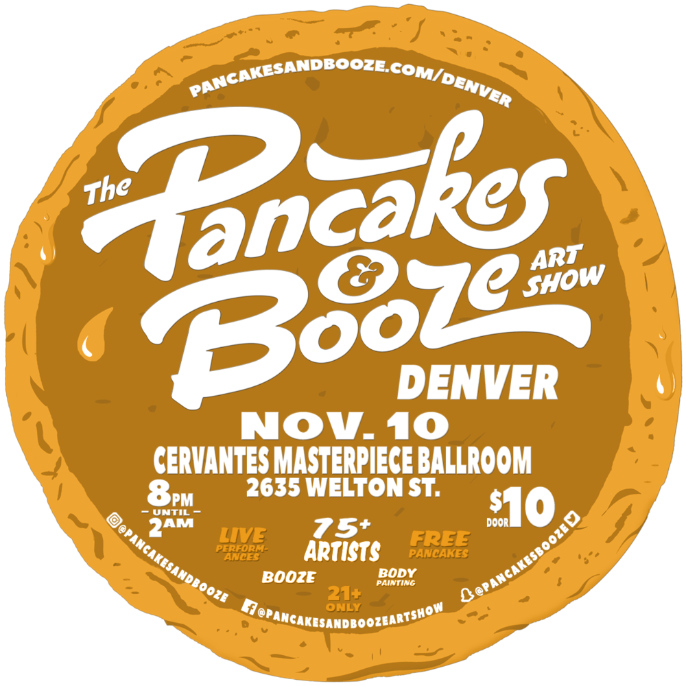 Enjoy free pancakes while checking out art and drinking booze! Why not???