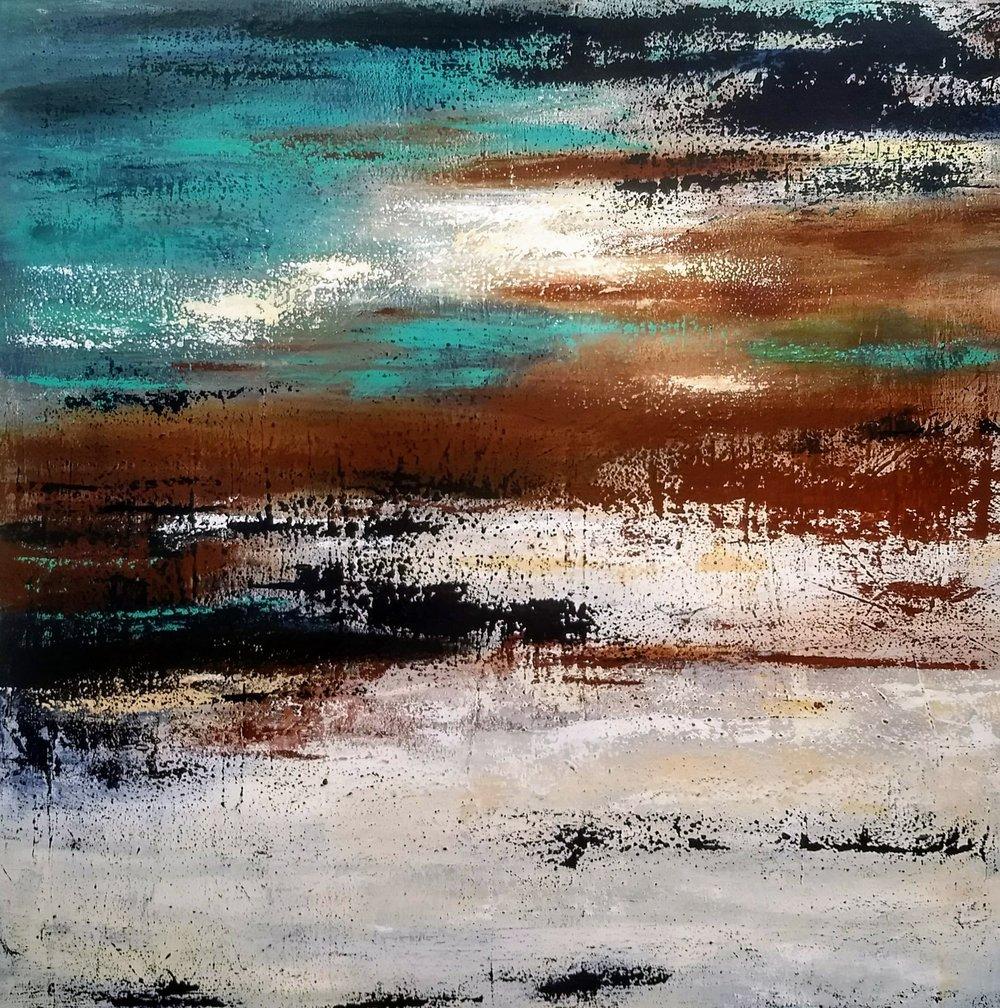 "Hush  48"" x 48"" Acrylic on Canvas"
