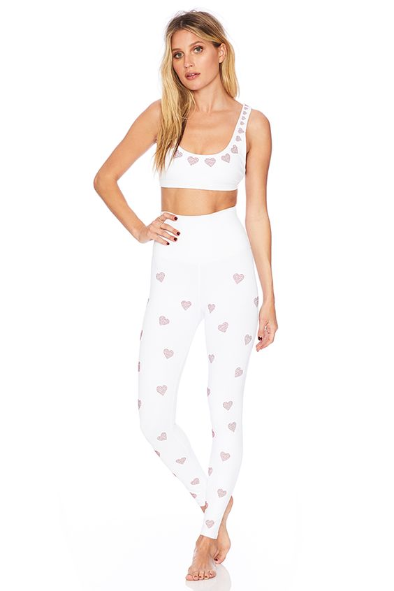 HEART BEADED HARPER LEGGING+HEART BEADED CHARLIE TOP - We're suckers for a bright white set, and the beaded heart detail is too cute.