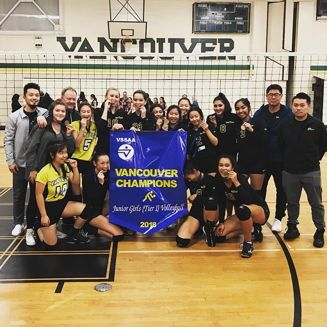 Congrats to #vantech Grade 10 girls who just won city champs for the third year in a row! My girl got MVP - proud mama 🙂#volleyball #sideout #threepeat #volleyball🏐
