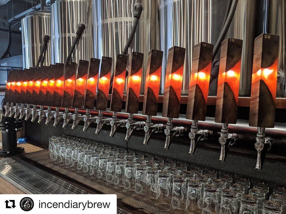 Incendiary Brewing Tap Handles