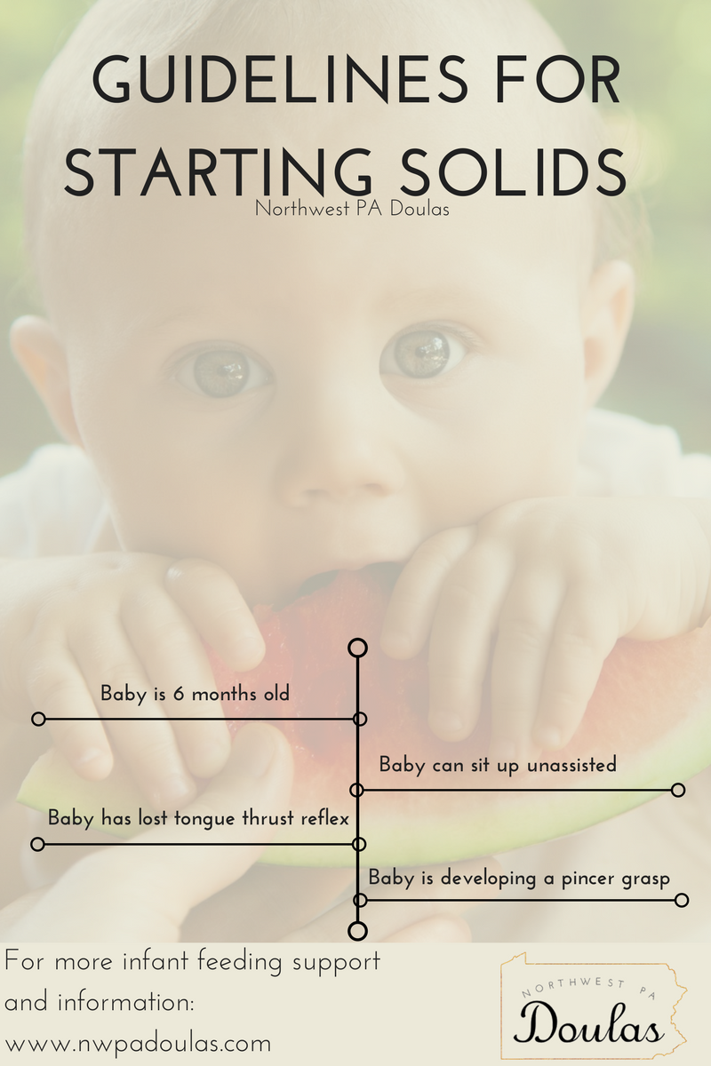 starting solids with infant baby, baby led weaning, when to start solids