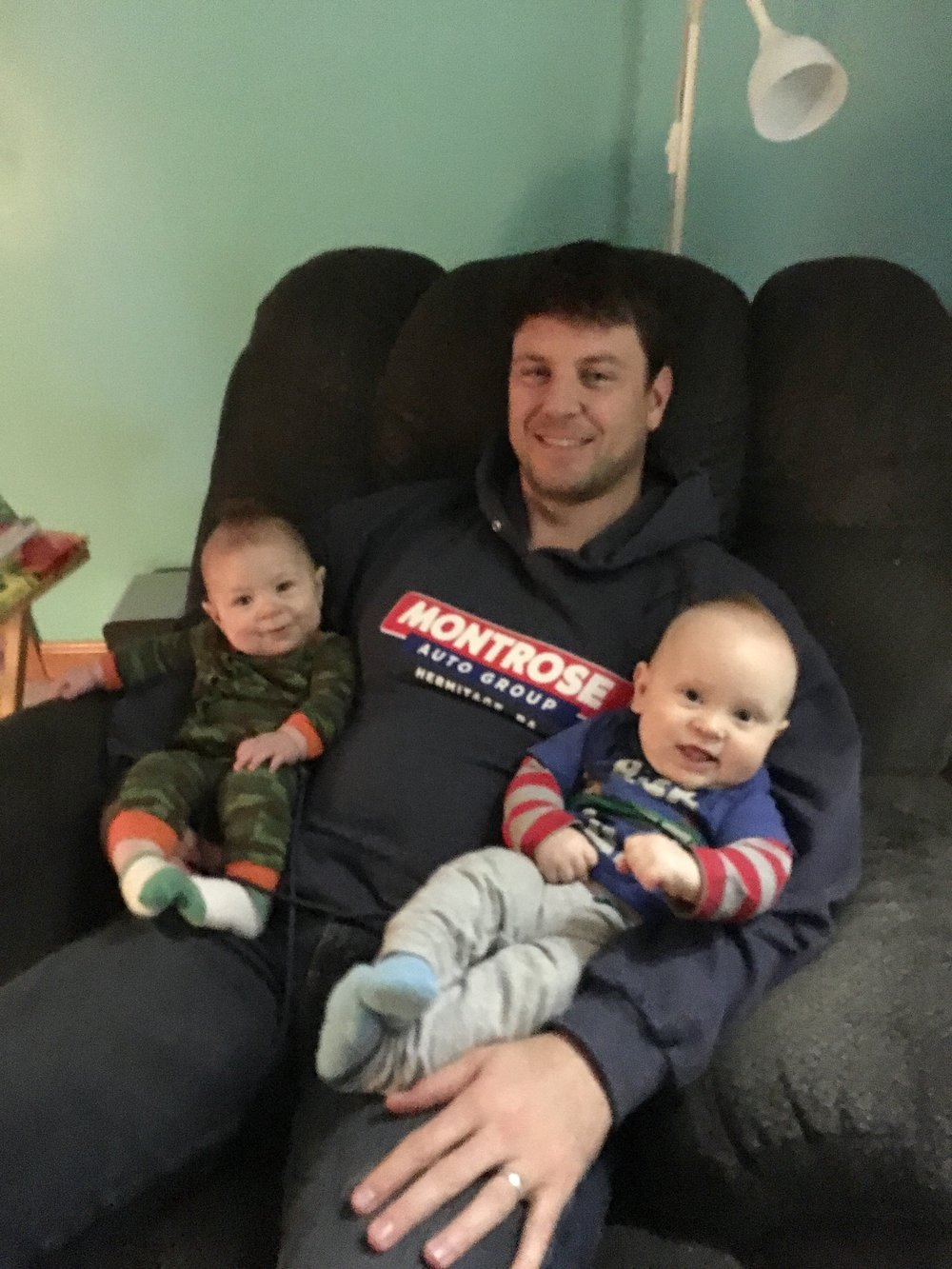 Ryker, Daddy (Justin), and Reece