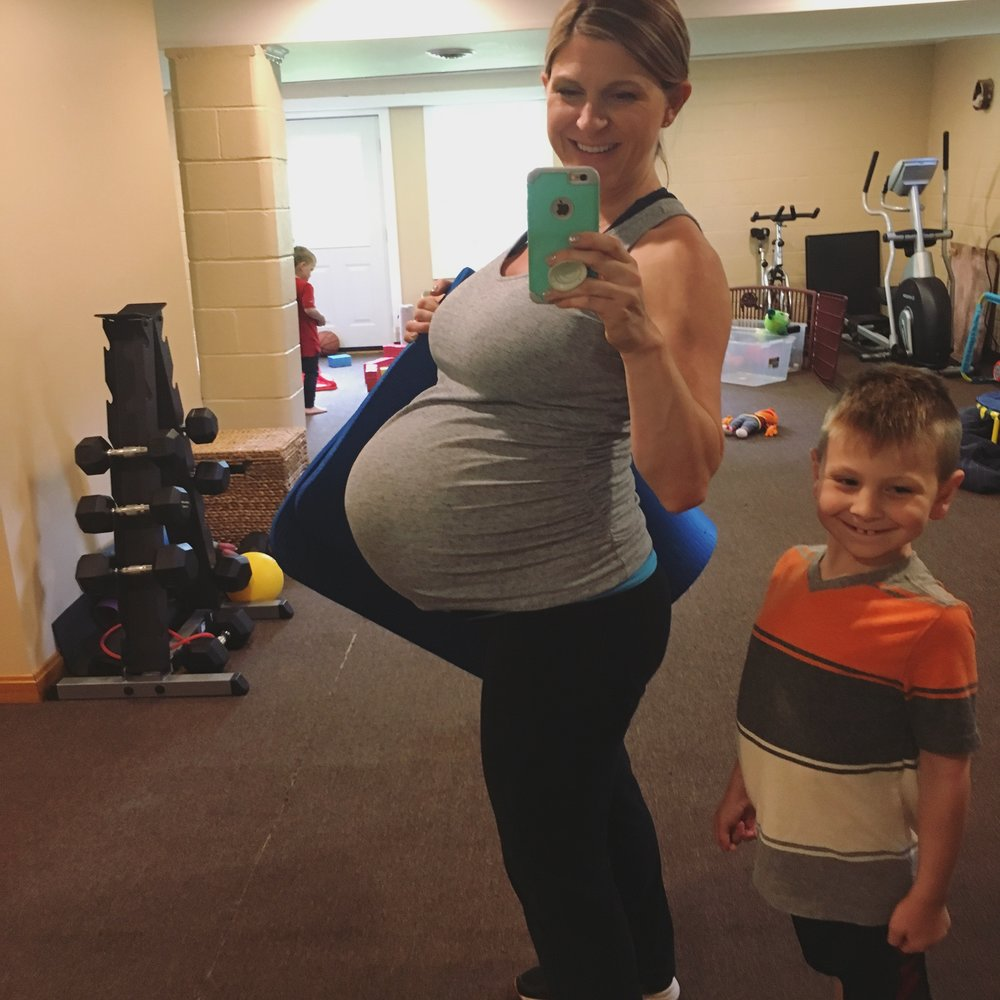 Laura exercised five days a week during her pregnancy. Beachbody on Demand workouts, the elliptical and the stability ball. You can follow her journey on  facebook  and  Instagram.