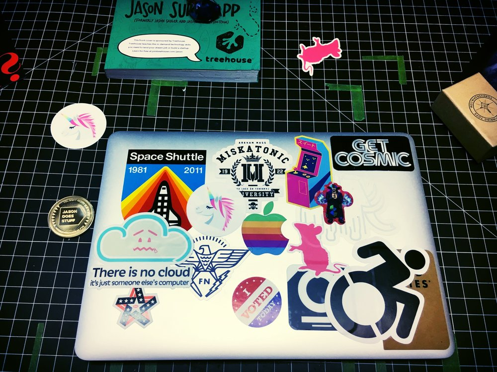Laptop plus new stickers!