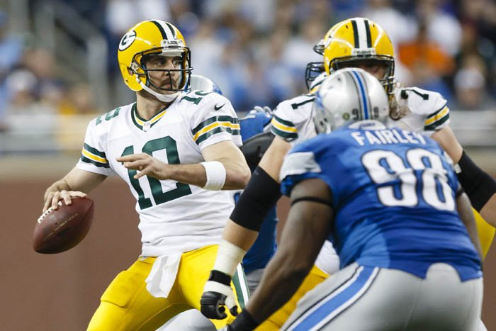 Aaron Rodgers, Aaron Rodgers' mustache, and Nick Fairley all played key roles in the last Packers/Lions game.