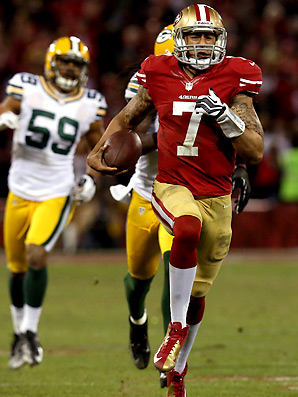 Colin Kaepernick literally ran over the Packers in the 2012 playoffs...and guess who the Packers play Week 1.