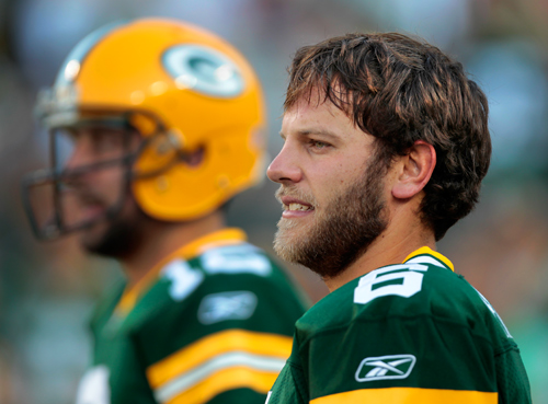 Does Graham Harrell have what it takes to fill in if disaster strikes in Green Bay?