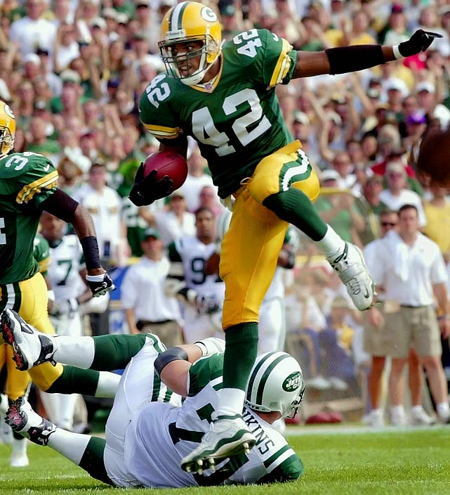 Sharper ran back interceptions with the Green Bay Packers. Apparently he's been running from the law for quite some time.