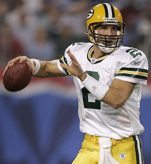 In his time with the Packers, Couch completed 6-of-17 passes for 64 yards.