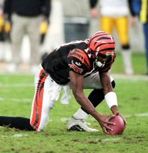 Akili Smith started seventeen games, winning only three contests, over four seasons with the Bengals.