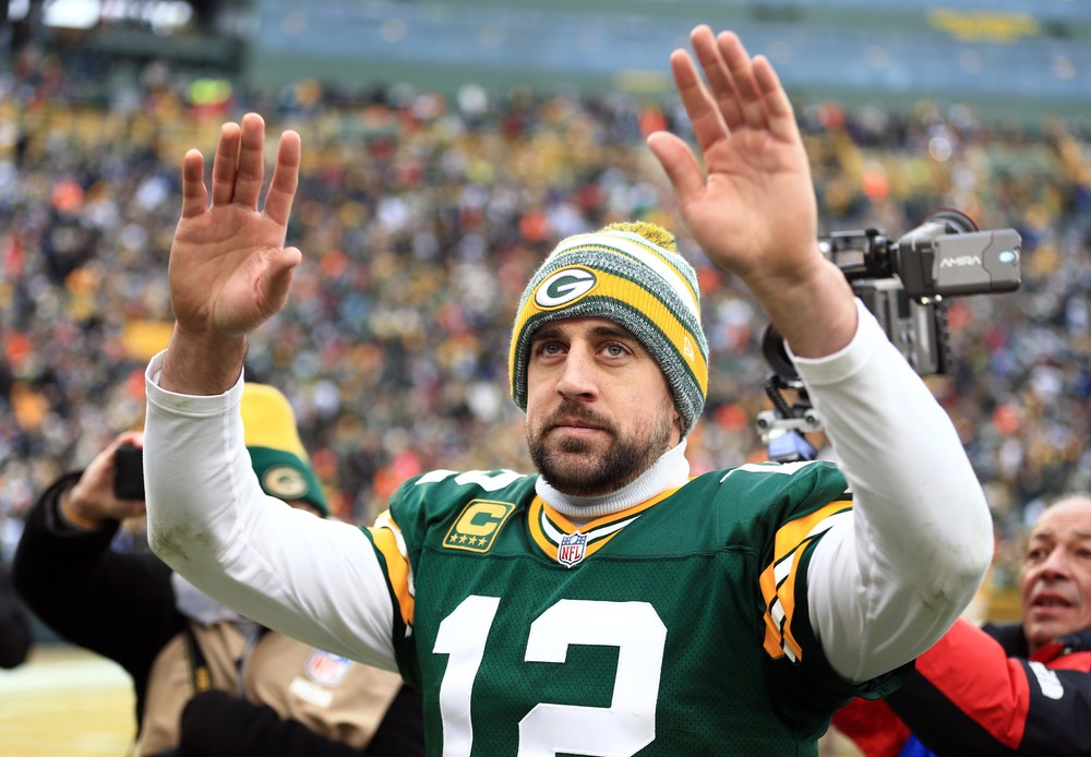 Quarterback Aaron Rodgers has an opportunity to finish the season ranked as high as 12th all-time in passing touchdowns.