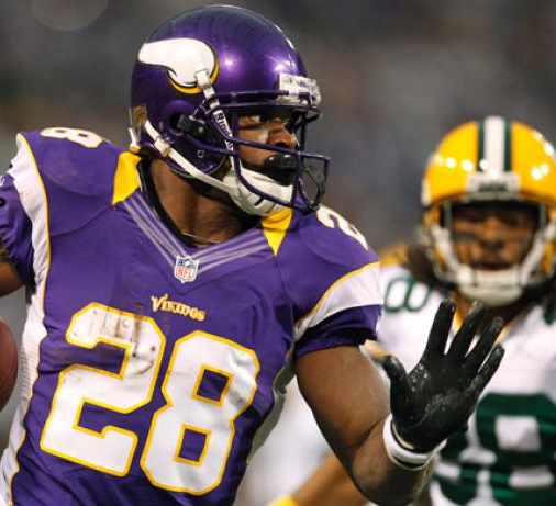 Adrian Peterson broke the 2,000 yard plateau and secured a playoff spot for the Vikings in the season finale in 2012.