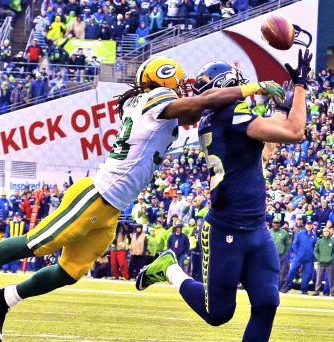 Jermaine Kearse's overtime touchdown grab sent the Seahawks to the Super Bowl and the Packers home.