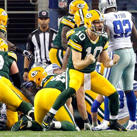 Matt Flynn's four second-half touchdown passes led Green Bay to a thrilling come-from-behind victory.