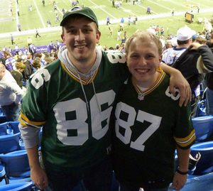 Jon Meerdink (#86) and Gary Zilavy (#87) grew up in Wisconsin, met while attending Northwestern College in Minnesota and moved across the country after graduating.