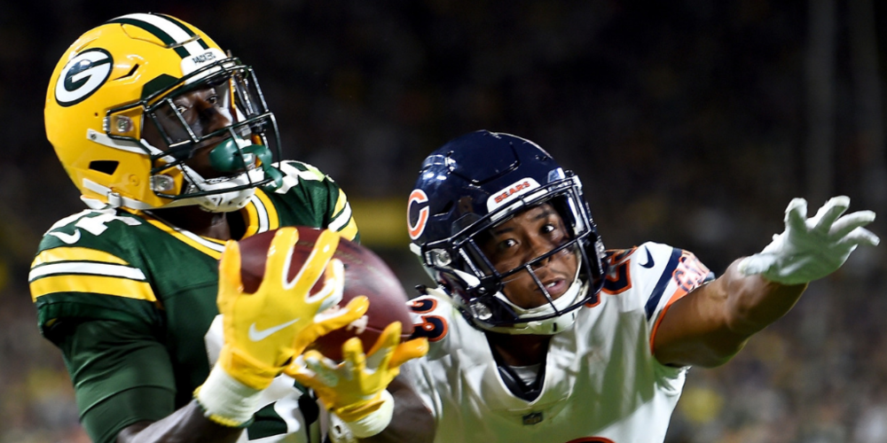 Geronimo Allison's big touchdown catch over Kyle Fuller helped ignite the Packers' rally.