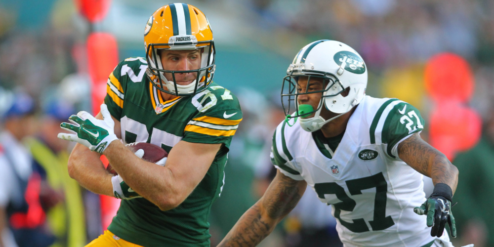 A big play by Jordy Nelson was a key moment in the last Packers/Jets game.