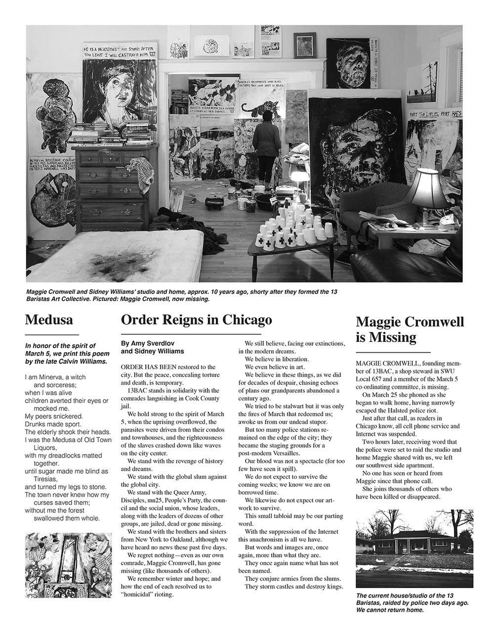 13 Baristas newspaper detail (2015)