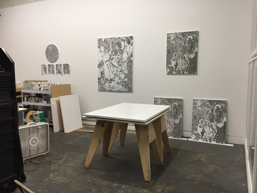 New work in the new studio