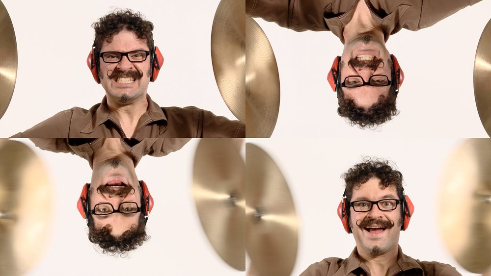 Jeffu Warmouth,   No More Funny Stuff (4-Way Cymbal Monkey),   performance video, 4 minutes, 2012. Courtesy of the artist.