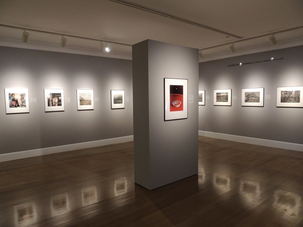 "View of gallery installation at the Fitchburg Art Museum (foreground photo by Harold ""Doc"" Edgerton)"