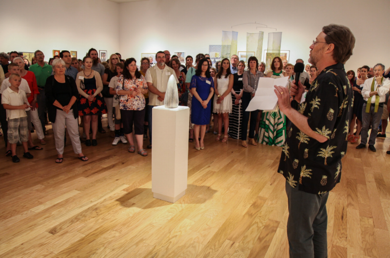 NICK CAPASSO, FAM DIRECTOR, ANNOUNCING THE WINNERS OF THE 81ST REGIONAL EXHIBITION OF ART & CRAFT