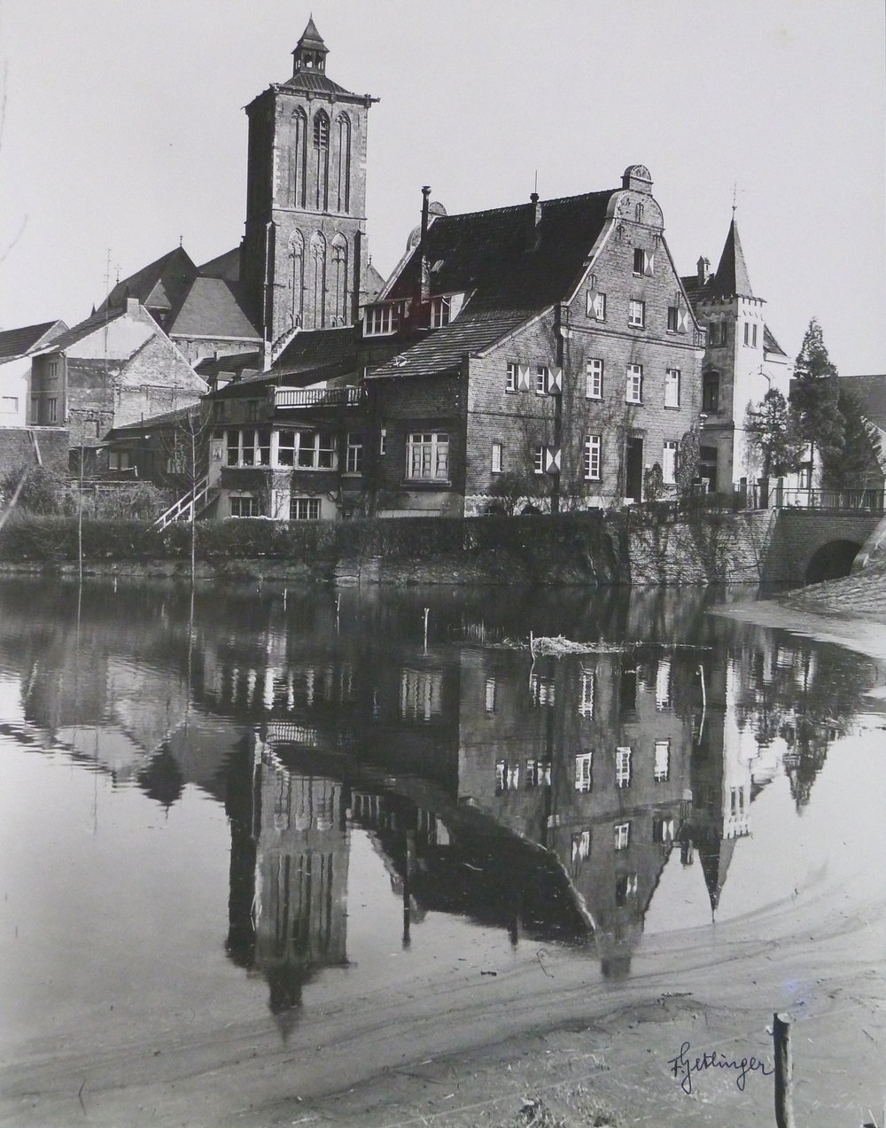 Fritz Getlinger,  Kleve-Schenkenschanz: Former Fortress Site on the Rhine , 20th century, gelatin silver print, Gift of Fritz Getlinger in his lifetime on a visit to Fitchburg, Kleve's sister city, 2016.98