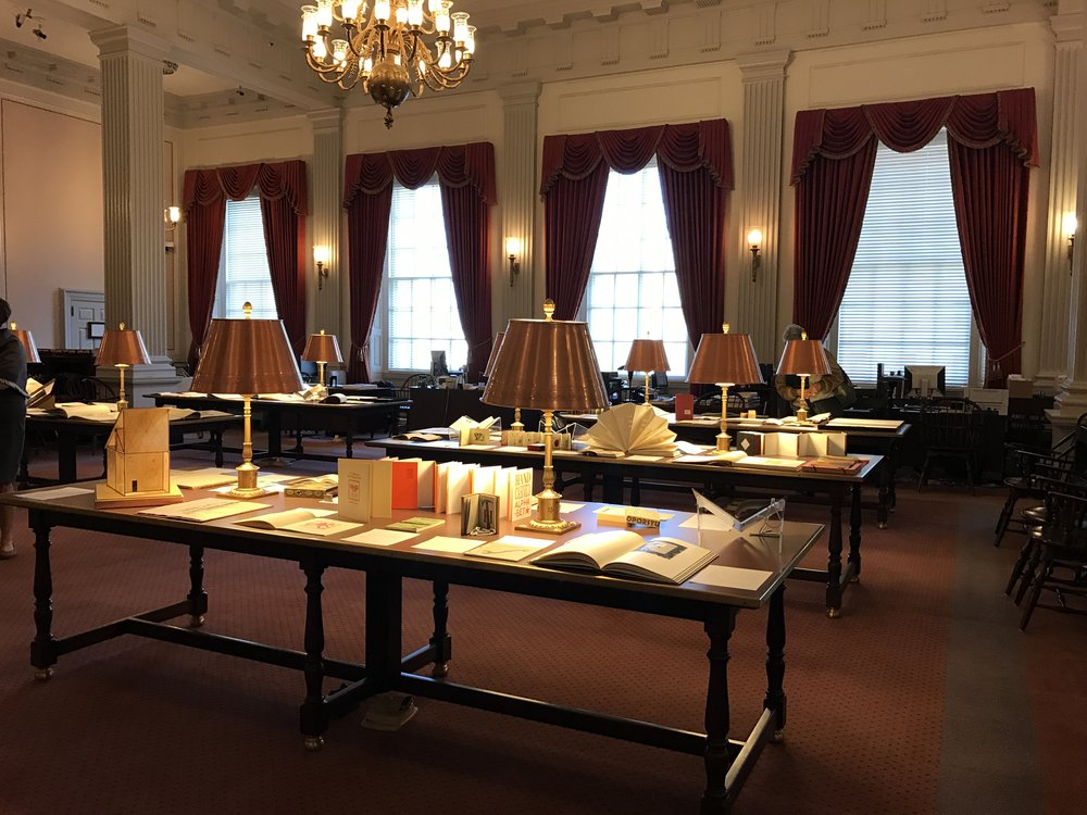Library of Congress, ABC Exhibition - Can you spot the orange book?
