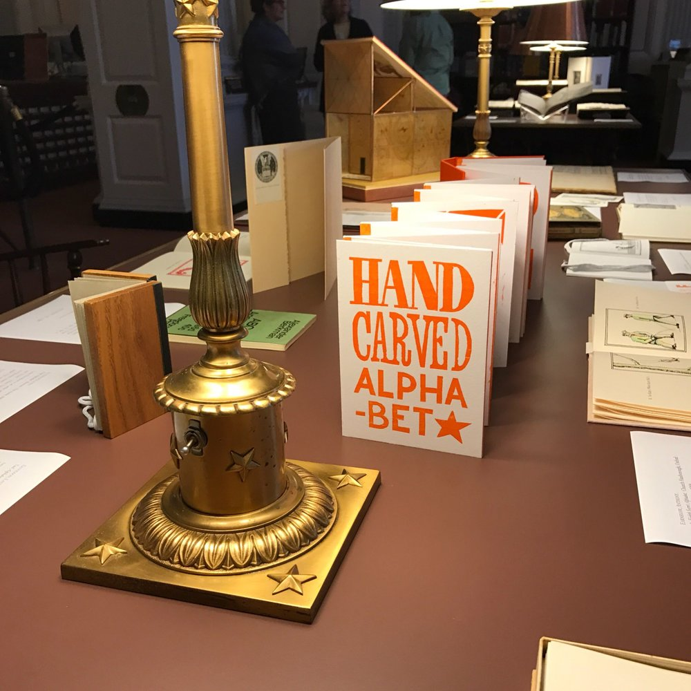 Library of Congress, ABC Exhibition including my book, Hand-Carved Alphabet
