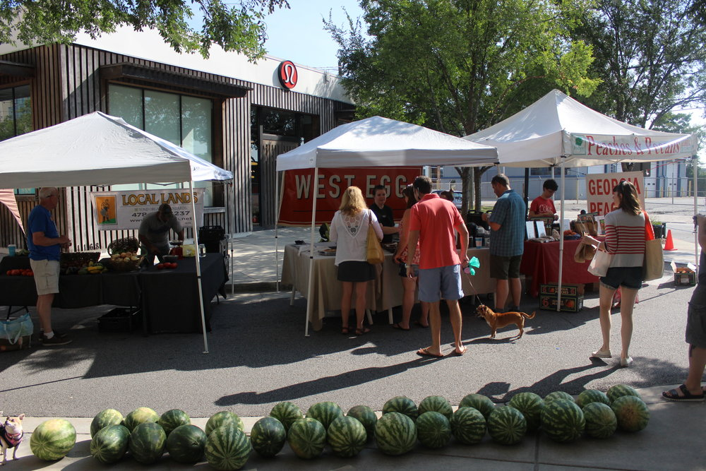 Check out the farmers market