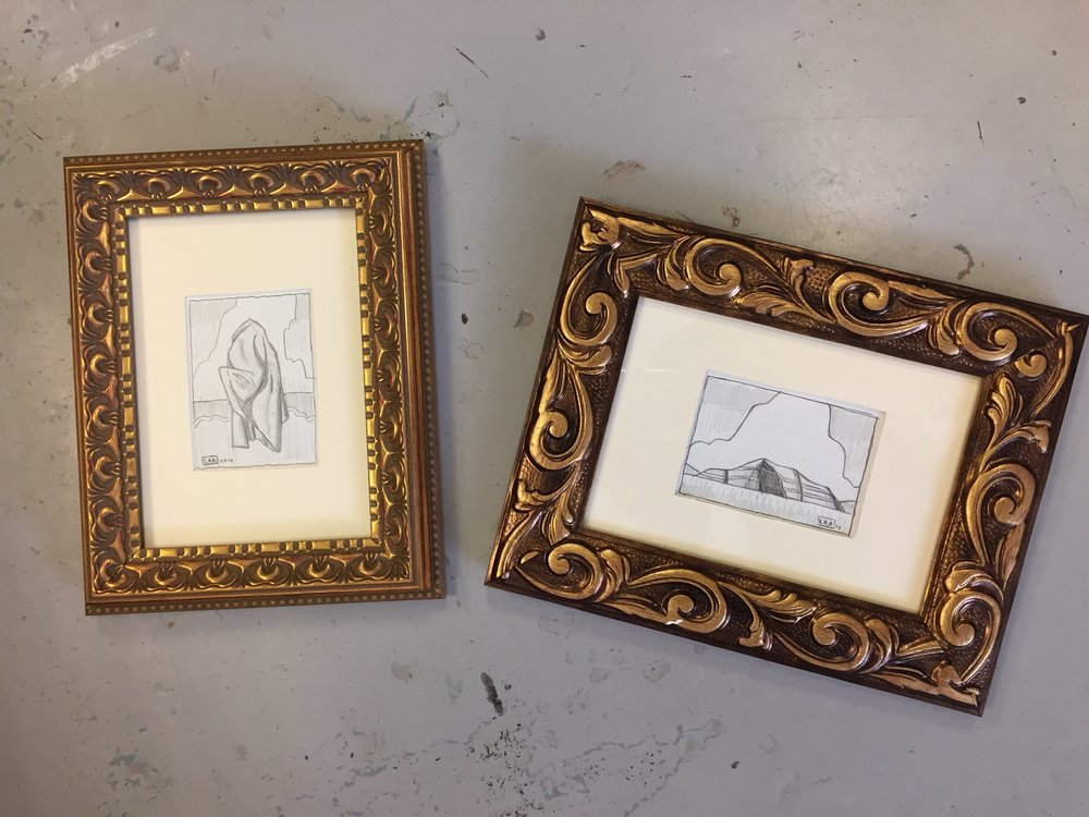 Examples of framed drawings