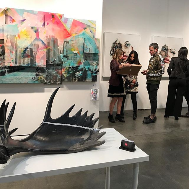 Some of my work hanging at the Los Angeles Contemporary Art Show with Retrospect Galleries. It's my first exhibition in LA. Very excited to be there!