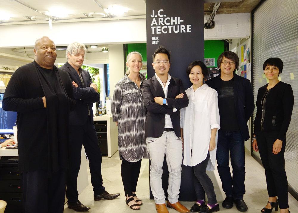 From left to right,Layton Reid,Matthijs van dijk,Suzie Attiwill, Johnny Chiu, Nora Wang, Shu Chang Kung,Shashi Caan
