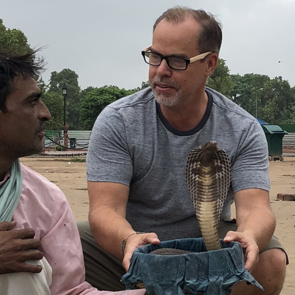 Robert Baker in India scouting locations for his upcoming documentary The Expat.