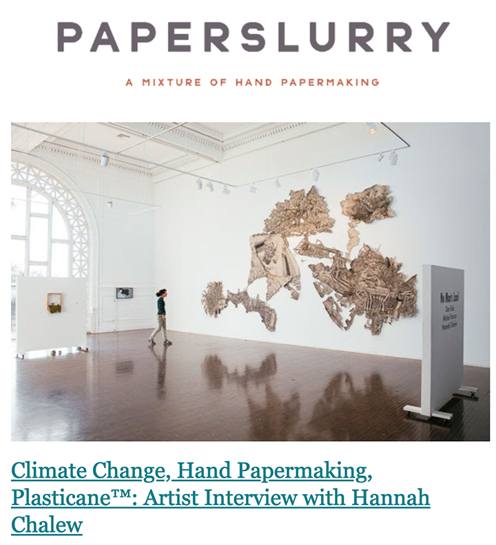 - Interview on PaperSlurryMay Babcock interviewed me on her incredible hand-paper-making resource and blog PaperSlurry. She asked about my process and how it relates to thinking about climate change and specifically environmental justice issues in Southern Louisiana.