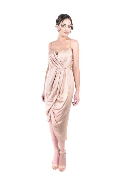 7e4bba1255 Designer Dress Hire Perth - Sueded Silk Plunge Short