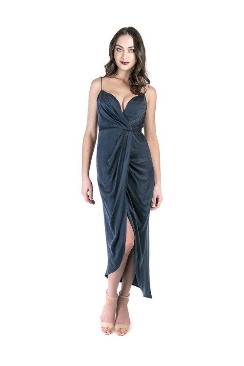 bb1a9a0cf7 Silk Plunge Long - Dress Hire