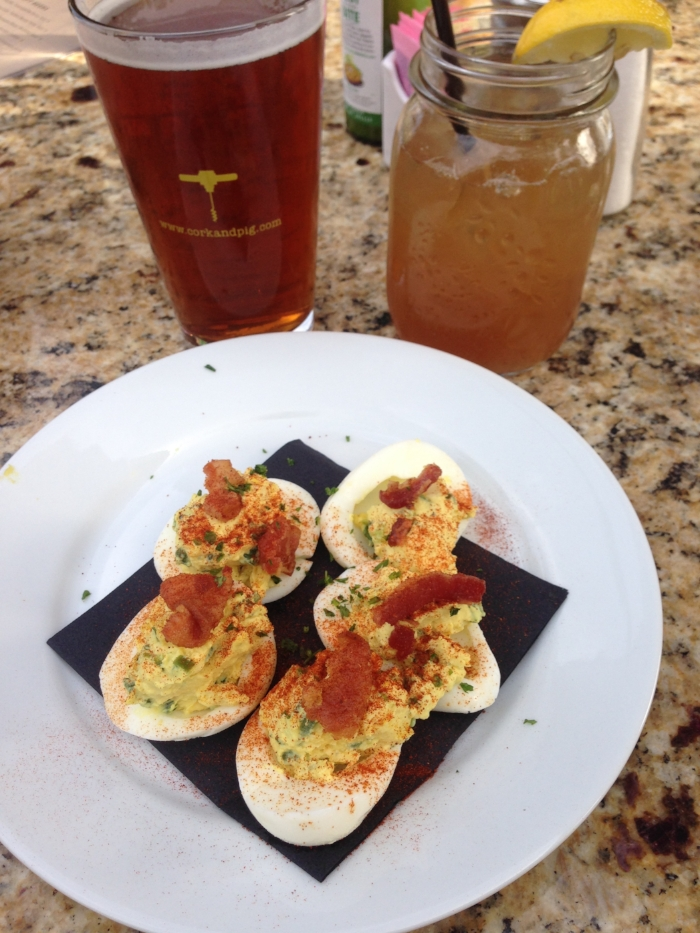 The deviled eggs are delicious too! Cork & Pig has a nice patio for patio-drinking!
