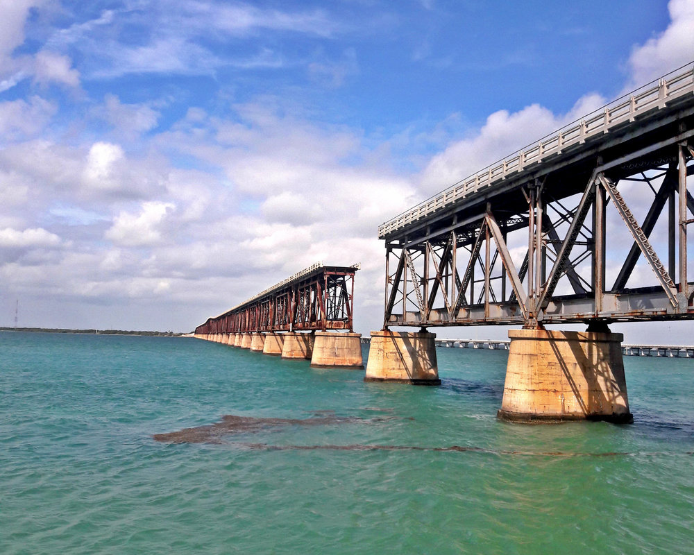 Historical bridge from the Bahia Honda State Park