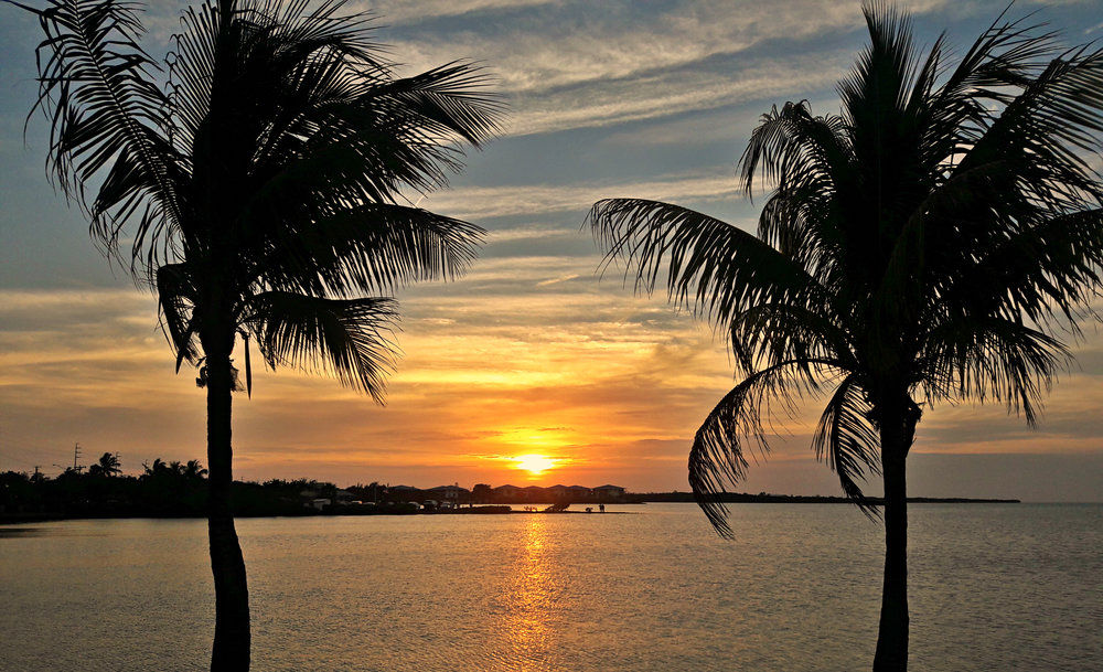 One of the many beautiful sunsets here in the Florida Keys