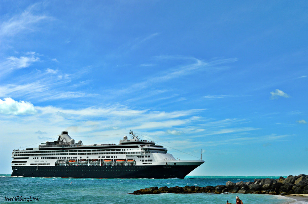 Cruise ships coming to port from Fort Zachary State Park, Key West